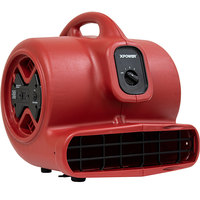 XPOWER X-600A Red 3-Speed Air Mover with GFCI Power Outlets - 1/3 hp