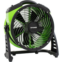 XPOWER FC-250D 13 inch DC Powered Brushless Whole Room Air Circulator Utility Fan - 1560 CFM; 115V