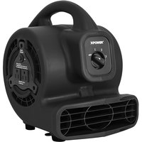 XPOWER P-80A Black 3-Speed Air Mover with GFCI Power Outlets - 600 CFM; 115V