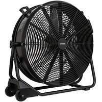 XPOWER FD-650DC 24 inch DC Powered Variable Speed Brushless High Velocity Drum Fan - 9500 CFM; 115V