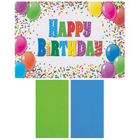 Hoffmaster 856784 10 inch x 14 inch Happy Birthday Placemat Combo Pack - 250/Case