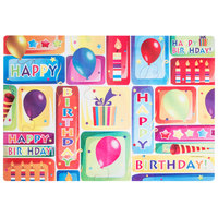 Hoffmaster 856746 10 inch x 14 inch Happy Birthday Placemat Combo Pack - 200/Case