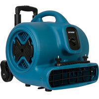 XPOWER P-630HC Blue 3-Speed Air Mover with Telescopic Handle and Wheels - 1/2 hp