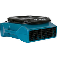 XPOWER XL-760AM Blue Low Profile Air Mover with GFCI Power Outlets and Hour Meter - 1/3 hp