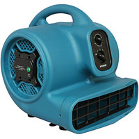 XPOWER P-450NT Freshen Aire Blue 3-Speed Compact Scented Air Mover with Ionizer and Timer - 1/3 hp