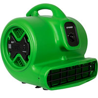 XPOWER X-600A Green 3-Speed Air Mover with GFCI Power Outlets -1/3 hp