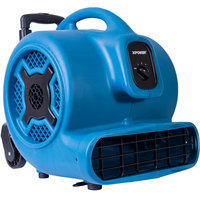 XPOWER P-830H Blue 3-Speed Air Mover with Telescopic Handle and Wheels - 1 hp
