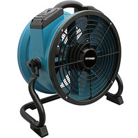 XPOWER X-34AR Blue Variable Speed Industrial Axial Fan with Sealed Motor and GFCI Power Outlets - 1/4 hp