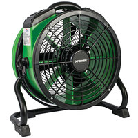XPOWER X-34AR Green Variable Speed Industrial Axial Fan with Sealed Motor and GFCI Power Outlets - 1/4 hp