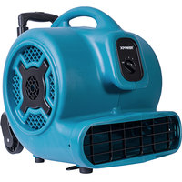 XPOWER X-830H Blue 3-Speed Air Mover with Telescopic Handle and Wheels - 1 hp