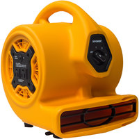 XPOWER P-130A Yellow 3-Speed Compact Air Mover with CFCI Power Outlets - 1/4 hp