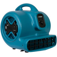 XPOWER P-600A Blue 3-Speed Air Mover with GFCi Power Outlets - 1/3 hp