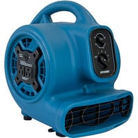 XPOWER P-260AT Freshen Aire Blue 4-Speed Compact Scented Air Mover with GFCI Power Outlets and Timer - 1/5 hp