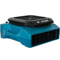 XPOWER PL-700A Blue 3-Speed Low Profile Air Mover with GFCI Power Outlets - 1/3 hp