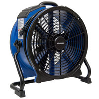 XPOWER X-48ATR Variable Speed High Temperature Industrial Axial Fan with Sealed Motor and GFCI Power Outlets - 1/3 hp