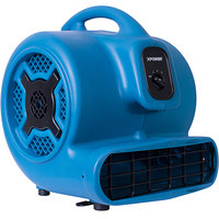 XPOWER P-800 Blue 3-Speed Air Mover - 3/4 hp
