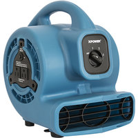 XPOWER P-80A Blue 3-Speed Air Mover with GFCI Power Outlets - 600 CFM; 115V
