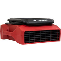 XPOWER PL-700A Red 3-Speed Low Profile Air Mover with GFCI Power Outlets - 1/3 hp