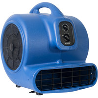 XPOWER X-800TF Blue 3-Speed Air Mover with Timer and Filter Kit - 3/4 hp