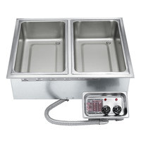 APW Wyott HFW-2D Insulated Two Pan Drop In Hot Food Well with Drain