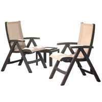 Grosfillex USPCT003 Jamaica Patio Table and Chairs Set