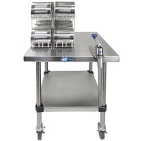 Edlund EDCS-11M Mobile Can Opening Station with S-11 Heavy-Duty Manual Can Opener