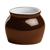 Hall China 4610ABRB 7 oz. Brown Boston Bean Pot - 24/Case