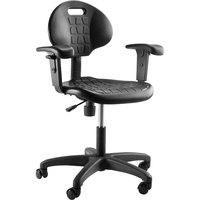National Public Seating 6716HB-A Kangaroo Swivel Industrial Stool with Arms