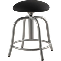 National Public Seating 6810S-02 Black Adjustable Stool with Grey Frame