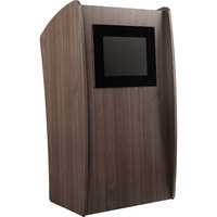 Oklahoma Sound 612-RW Ribbonwood Finish Vision Lectern with LCD Screen
