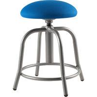National Public Seating 6825S-02 Cobalt Blue Adjustable Stool with Grey Frame