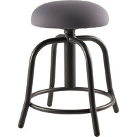 National Public Seating 6820S-10 Charcoal Adjustable Stool with Black Frame