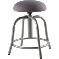 National Public Seating 6820S-02 Charcoal Adjustable Stool with Grey Frame