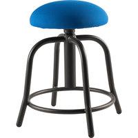 National Public Seating 6825S-10 Cobalt Blue Adjustable Stool with Black Frame