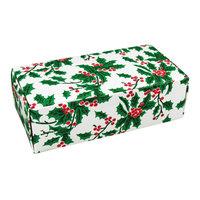5 1/2 inch x 2 3/4 inch x 1 3/4 inch 1-Piece 1/2 lb. Holly Candy Box - 250/Case