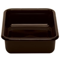 Cambro 1520CBPF131 20 inch x 15 inch x 5 inch Dark Brown Polyethylene Plastic Bus Box with Flat Bottom