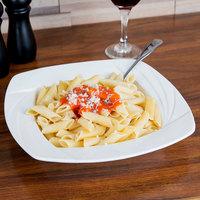 CAC GAD-SQ110 Garden State 24 oz. Bone White Square Porcelain Pasta Bowl - 12/Case