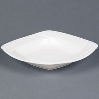 CAC GAD-SQ110 Garden State 24 oz. Bone White Square Porcelain Pasta Bowl - 12 / Case