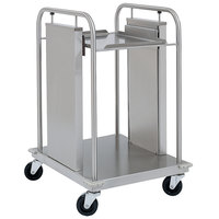 Delfield TT-2020 Mobile Open Frame One Stack Tray Dispenser for 20 inch x 21 inch Food Trays