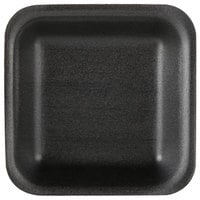 Genpak 1501 (#1) Foam Meat Tray Black 5 1/4 inch x 5 1/4 inch x 1 inch - 500/Case