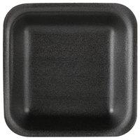 Genpak 1501 (#1) Foam Meat Tray Black 5 1/4 inch x 5 1/4 inch x 1 inch - 500/Case