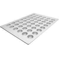 48 Cup 2.1 oz. Glazed Aluminized Steel Mini Muffin Pan - 17 7/8 inch x 25 7/8 inch