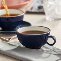 Acopa Keystone 8 oz. Azora Blue Porcelain Cup   - 36/Case