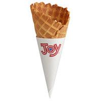Joy Small Size Jacketed Ice Cream Waffle Cone - 276/Case