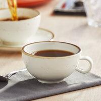 Acopa Keystone 8 oz. Vanilla Bean Porcelain Low Cup   - 36/Case
