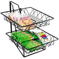 Cal-Mil 1293-2 Two Tier Merchandiser with Square Wire Baskets - 12 inch x 15 inch x 15 inch