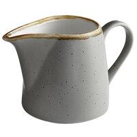 Acopa Keystone 10 oz. Granite Gray Porcelain Creamer   - 2/Pack