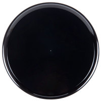 WNA Comet A918BL 18 inch Checkmate Round Catering Tray with High Edge - Black 5 / Pack