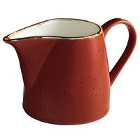 Acopa Keystone 10 oz. Sedona Orange Porcelain Creamer - 12/Case