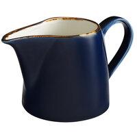 Acopa Keystone 10 oz. Azora Blue Porcelain Creamer   - 12/Case